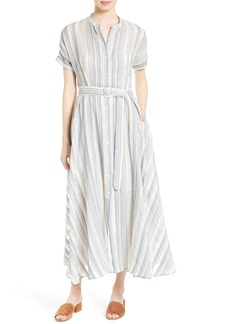 Theory Avinka Vall Stripe Maxi Shirtdress