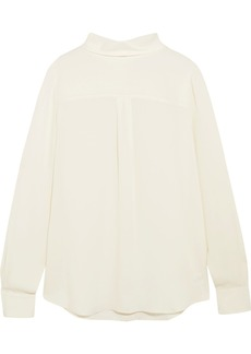 Theory Backwards silk crepe de chine blouse
