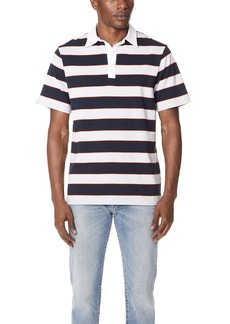 Theory Barrel Stripe Rugby Polo
