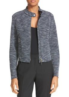 Theory Bavewick K Tweed Zip Front Jacket