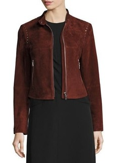 Theory Bavewick SM Wilmore Studded Suede Jacket