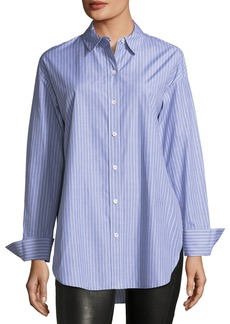Theory Becket Striped Tunic Blouse