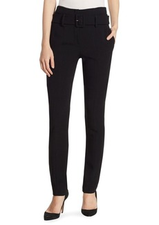Theory Belted Cigarette Crop Pants
