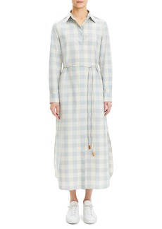 Theory Belted Crepe Shirtdress