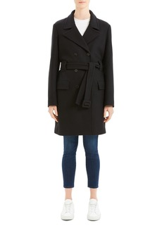 Theory Belted Long Peacoat