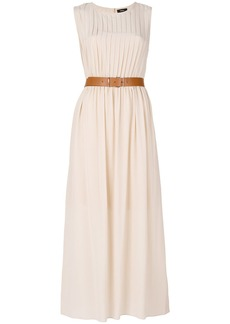 Theory belted maxi dress - Nude & Neutrals