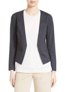 Theory Benefield Linen Blend Jacket