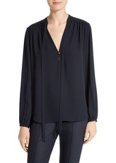 Theory Bernetta Silk Blouse