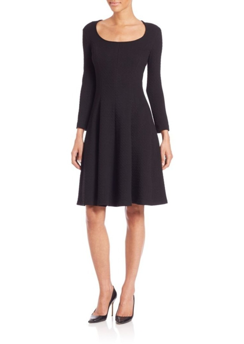 Theory Beyao Diamond Knit Fit-and-Flare Dress