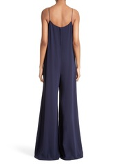 Theory Binx Wide Leg Crepe Jumpsuit
