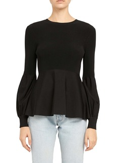 Theory Blouson Sleeve Peplum Top