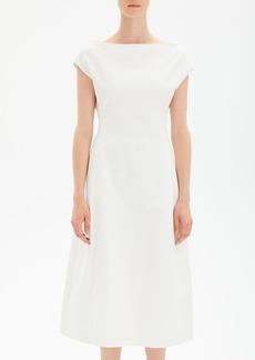 Theory Boat-Neck Double-Stretch Tulip Midi Dress