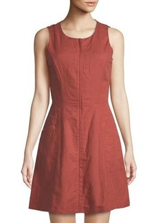 Theory Bonza Rotuma Zip-Front Dress