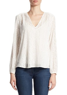 Theory Bowerbird Lace Blouse