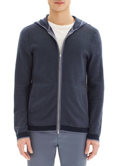 Theory Braghe Regular Fit Zip Hooded Cardigan