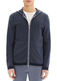 Theory Braghe Striped Zip-Front Hoodie