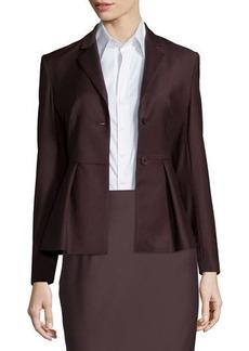 Theory Braneve Wool-Blend Peplum Jacket