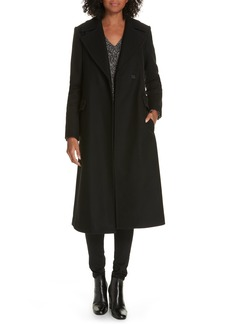 Theory Bria Belted Long Wool Blend Coat