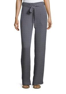 Theory Brilda Geometric Printed Silk Pants