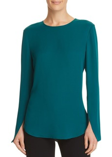 Theory Bringam Bell-Sleeve Silk Top