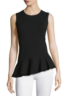 Theory Briselle Prosecco Sleeveless Peplum Top