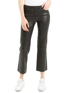 Theory Bristol Crop Leather Pants