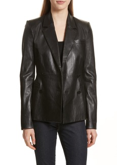 Theory Bristol Leather Blazer