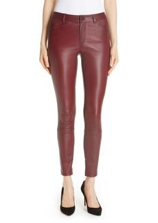 Theory Bristol Leather Skinny Pants