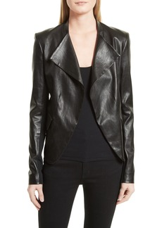 Theory Bristol Peplum Leather Jacket