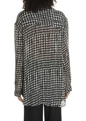 Theory Broken Oval Blouse