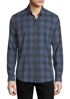Theory Brushed Check Cotton Shirt
