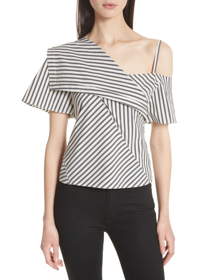 Theory Brys Stripe Foldover Top