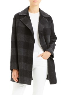 Theory Buffalo Plaid Wool Coat