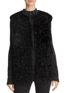 Theory Burgalese Reversible Curly Shearling Vest
