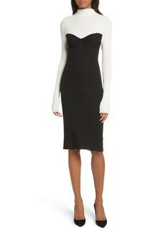 Theory Bustier Seam Knit Dress
