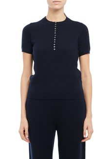 Theory Button Cashmere Top