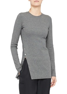 Theory Button Detail Tunic Top