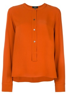Theory button front blouse - Yellow & Orange