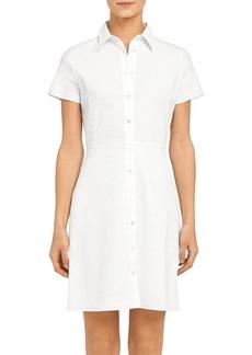 Theory 'Good Linen' Button-Up Shirtdress