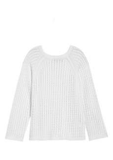 Theory Cable Knit Linen Blend Sweater