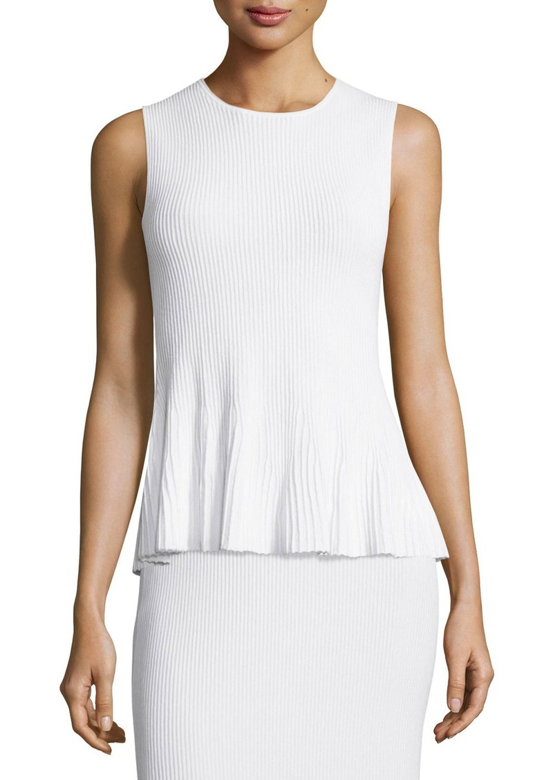 Theory Canelis Prosecco Ribbed-Knit Top
