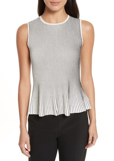 Theory Canelis Prosecco Sleeveless Rib Knit Top