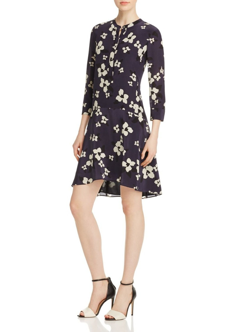 Theory Carstan Printed Silk Dress