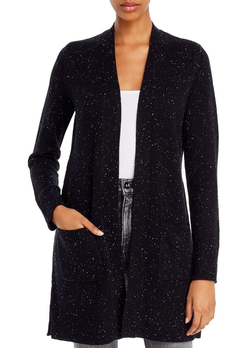 Theory Cashmere Donegal Knit Open Front Cardigan