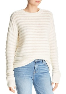 Theory Cashmere Knit-Stripe Sweater