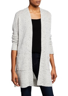 Theory Cashmere Open-Front Belt Cardigan