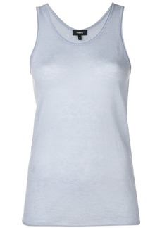 Theory racer-back cashmere top