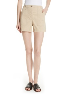 Theory Casual Stretch Cotton Twill Cargo Shorts