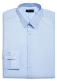 Theory Cedrick Micro Plaid Slim Fit Dress Shirt