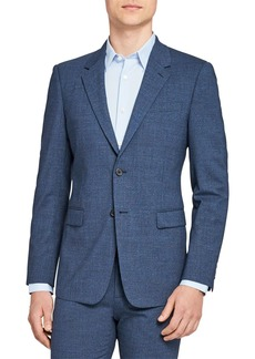 Theory Chambers Micro Houndstooth Slim Fit Suit Jacket